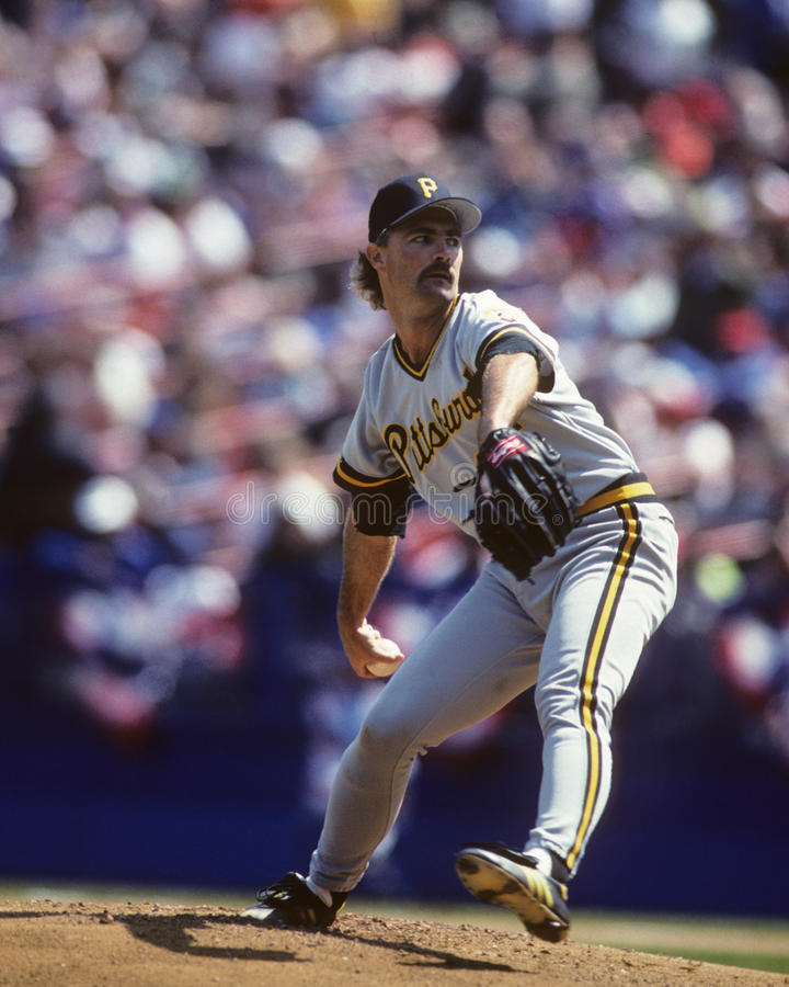 Doug Drabek. Pittsburgh Pirates pitcher Doug Drabek. (Image taken from color slide royalty free stock photography