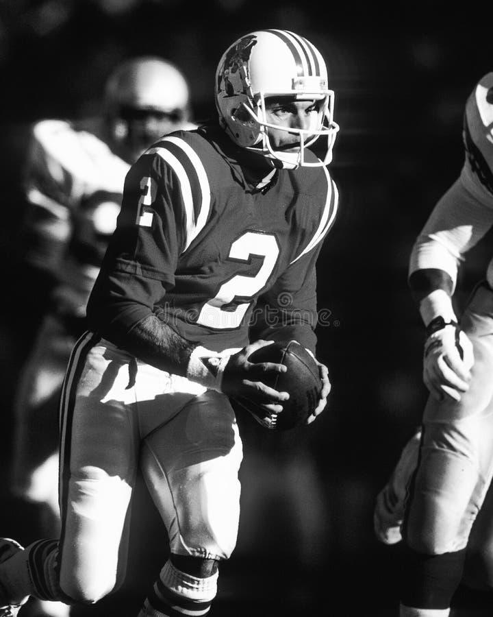 Doug Flutie. New England Patriots QB Doug Flutie. (image taken from b&w negative royalty free stock photos