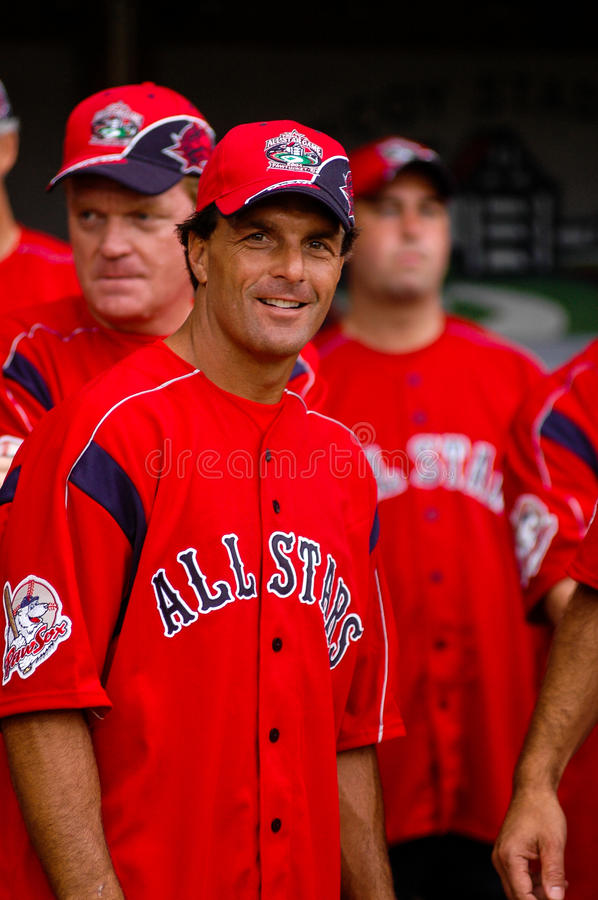 Doug Flutie. Participates in a hitting contest at McCoy Stadium, Pawtucket, RI. (Image from color slide stock images