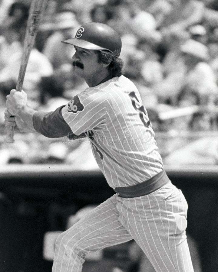 Doug Rader. Chicago Cubs catcher. (Image taken from B&W negative stock photos