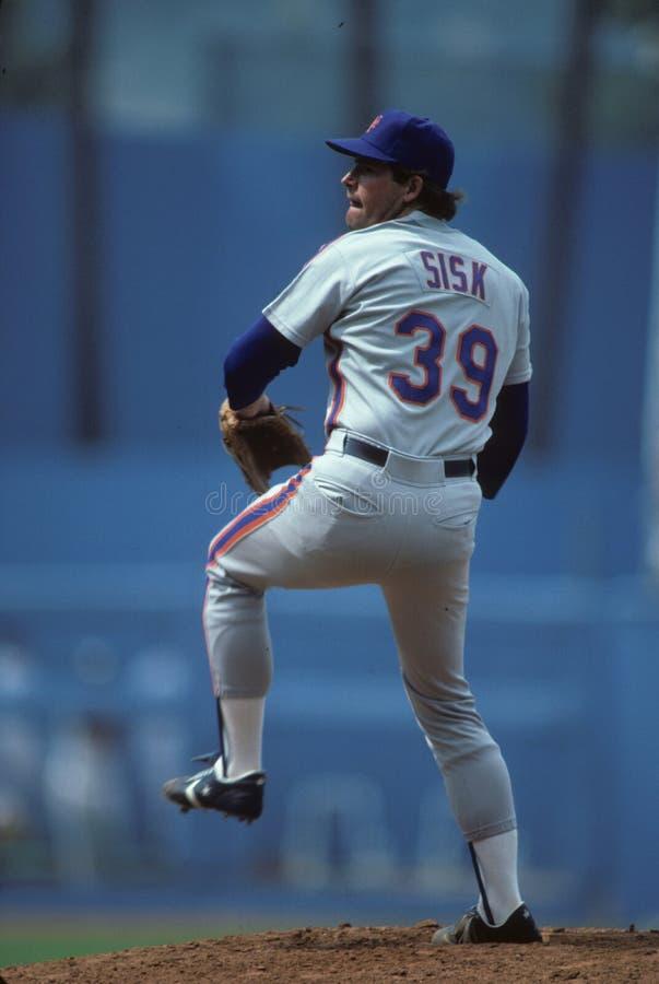 Doug Sisk. New York Mets pitcher Doug Sisk. (Image taken from color slide royalty free stock photo