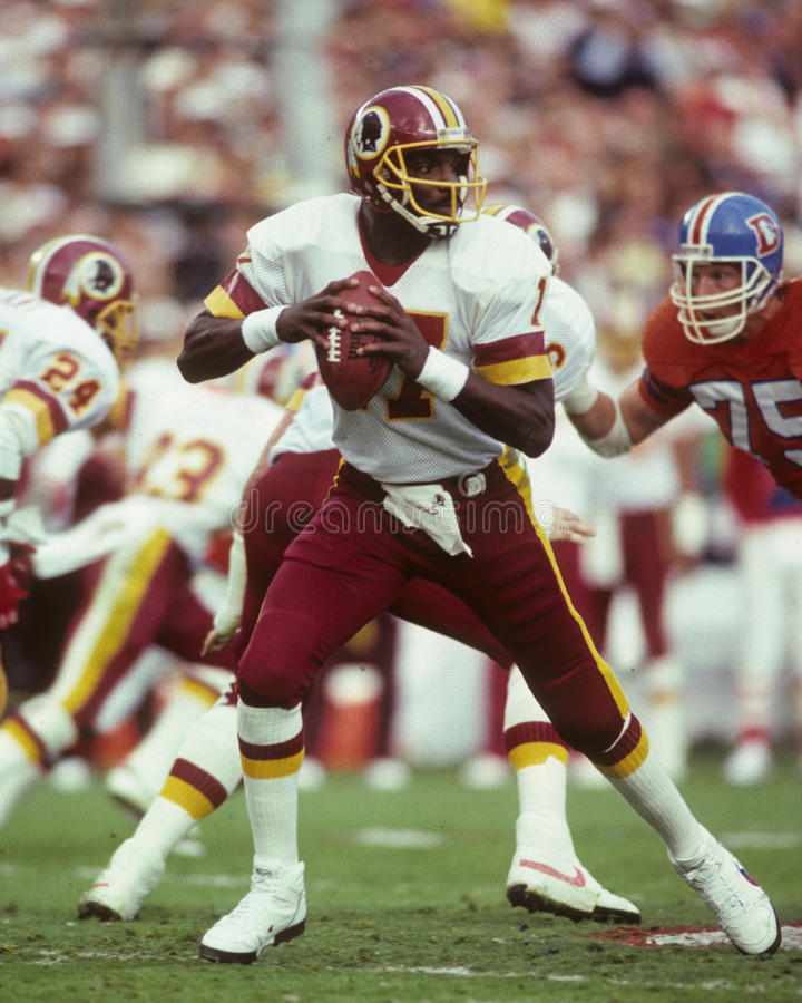 Doug Williams, Washington Redskins fotografia de stock