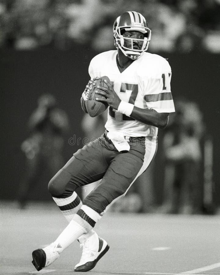 Doug Williams. Washington Redskins QB Doug Williams, #17 (Image taken from the B&W negative royalty free stock photography