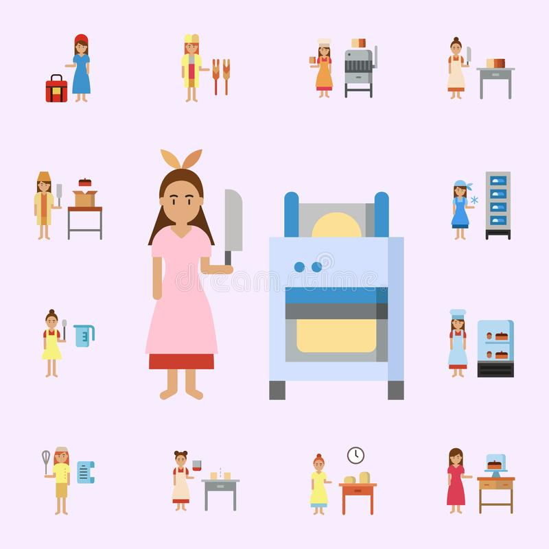 set of household appliances silhouette icons stock vector