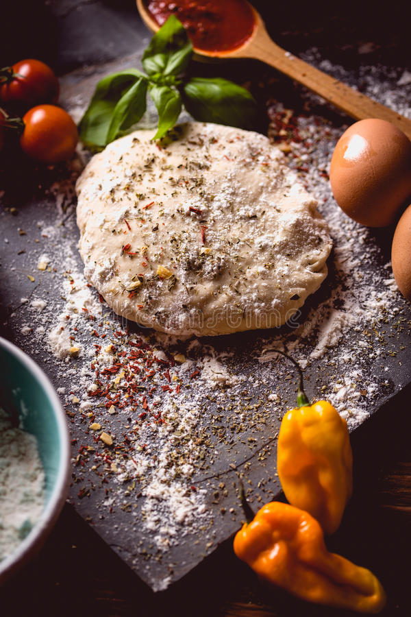 Download Dough With Spices Is Being Prepared To Bake Stock Photo - Image: 83724648
