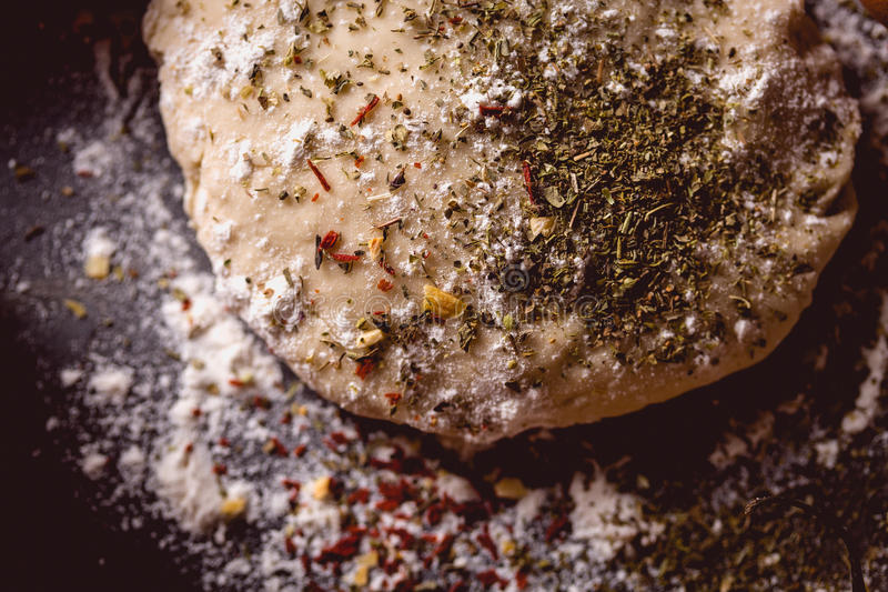 Download Dough With Spices Is Being Prepared To Bake Stock Photo - Image: 83724822