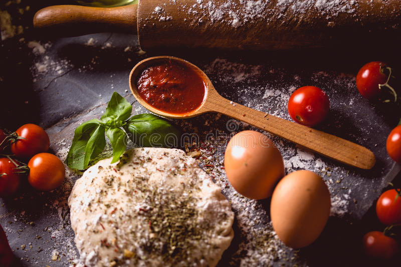 Download Dough With Spices Is Being Prepared To Bake Stock Photo - Image: 83724932