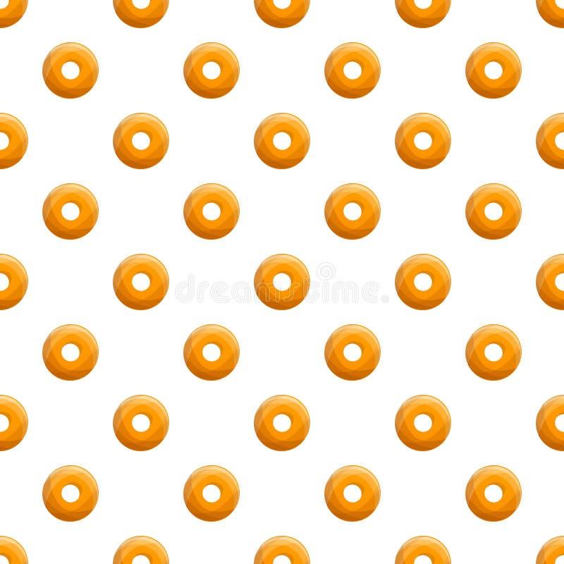 Doughnut άνευ ραφής διάνυσμα σχεδίων αρτοποιείων μπισκότων απεικόνιση αποθεμάτων