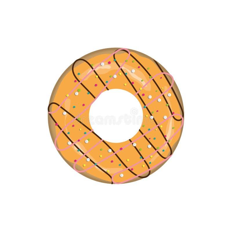 doughnut εικονίδιο απεικόνιση αποθεμάτων