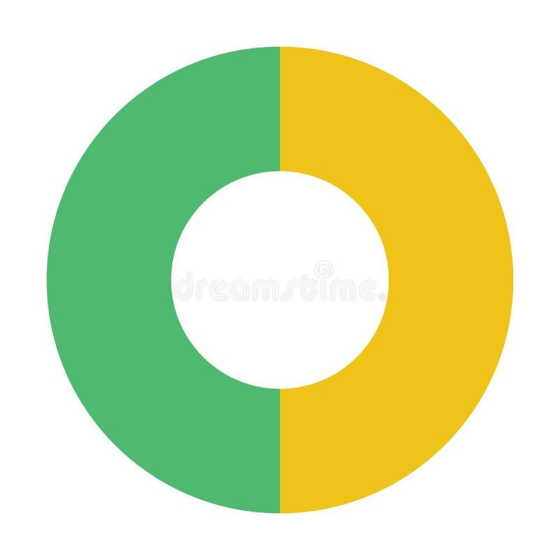 Doughnut διαγραμμάτων διανυσματική απεικόνιση χρώματος εικονιδίων επίπεδη απεικόνιση αποθεμάτων