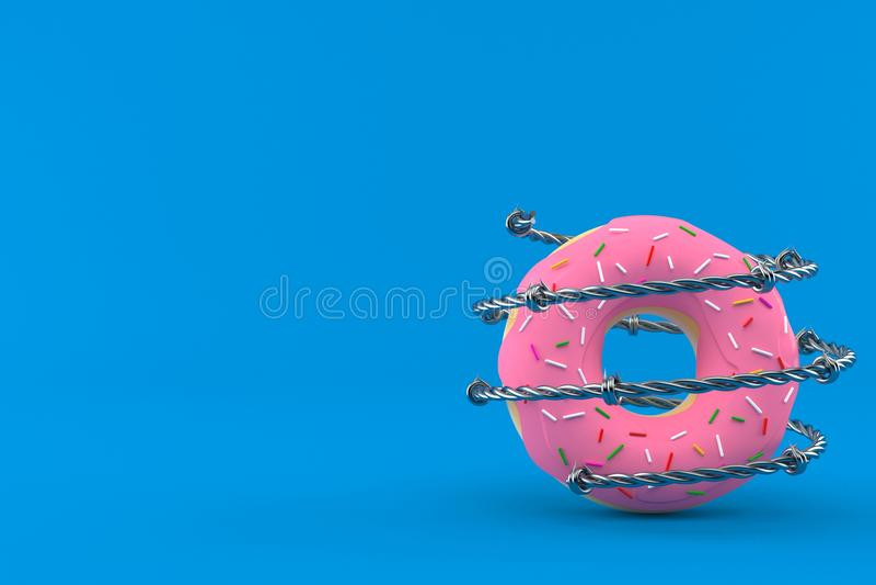 Doughnut με οδοντωτό - καλώδιο ελεύθερη απεικόνιση δικαιώματος