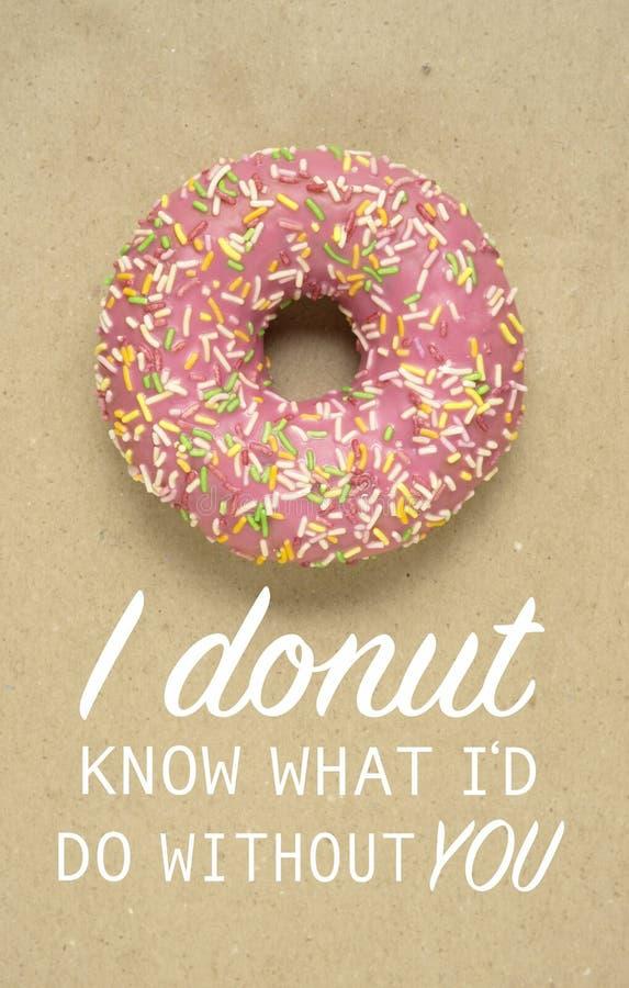 Doughnut ξέρει στοκ εικόνα με δικαίωμα ελεύθερης χρήσης