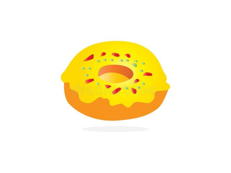 Doughnut που απομονώνεται σε ένα άσπρο υπόβαθρο Χαριτωμένα, ζωηρόχρωμα και στιλπνά donuts Απλό σύγχρονο σχέδιο Ρεαλιστική διανυσμ ελεύθερη απεικόνιση δικαιώματος