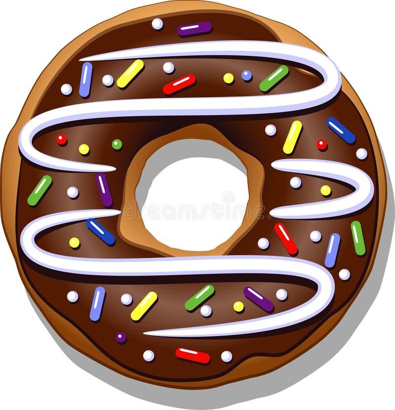 doughnut σοκολάτας ανασκόπησης απομόνωσε το λευκό απεικόνιση αποθεμάτων