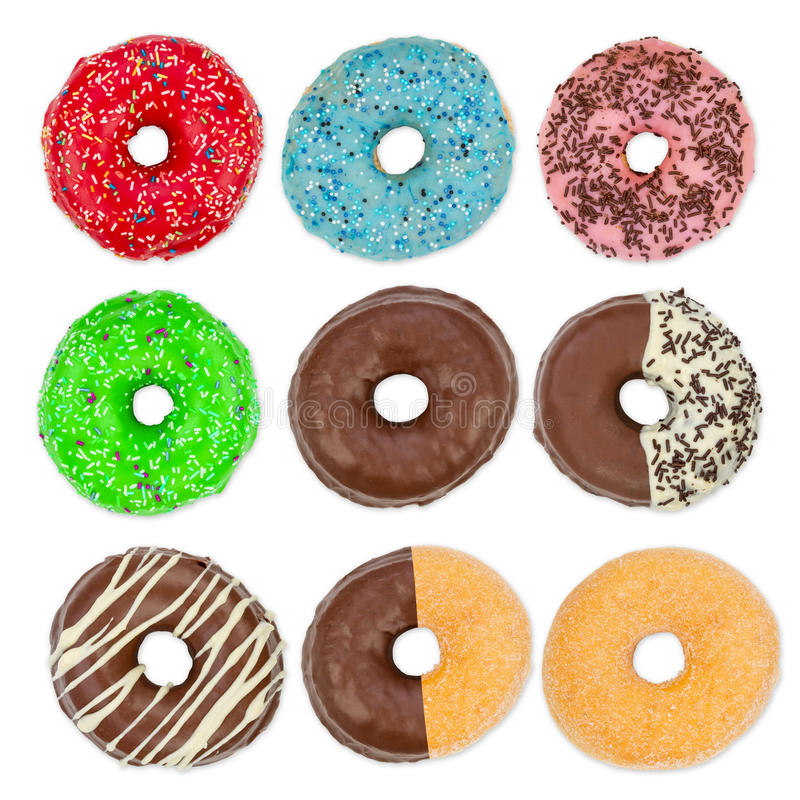 Doughnut σύνολο στοκ φωτογραφία με δικαίωμα ελεύθερης χρήσης