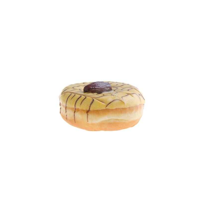 Doughnut die op achtergrond wordt geïsoleerdo royalty-vrije stock afbeelding