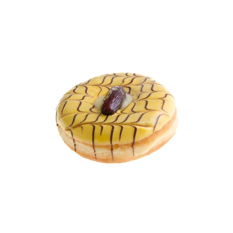 Doughnut die op achtergrond wordt geïsoleerdo stock fotografie