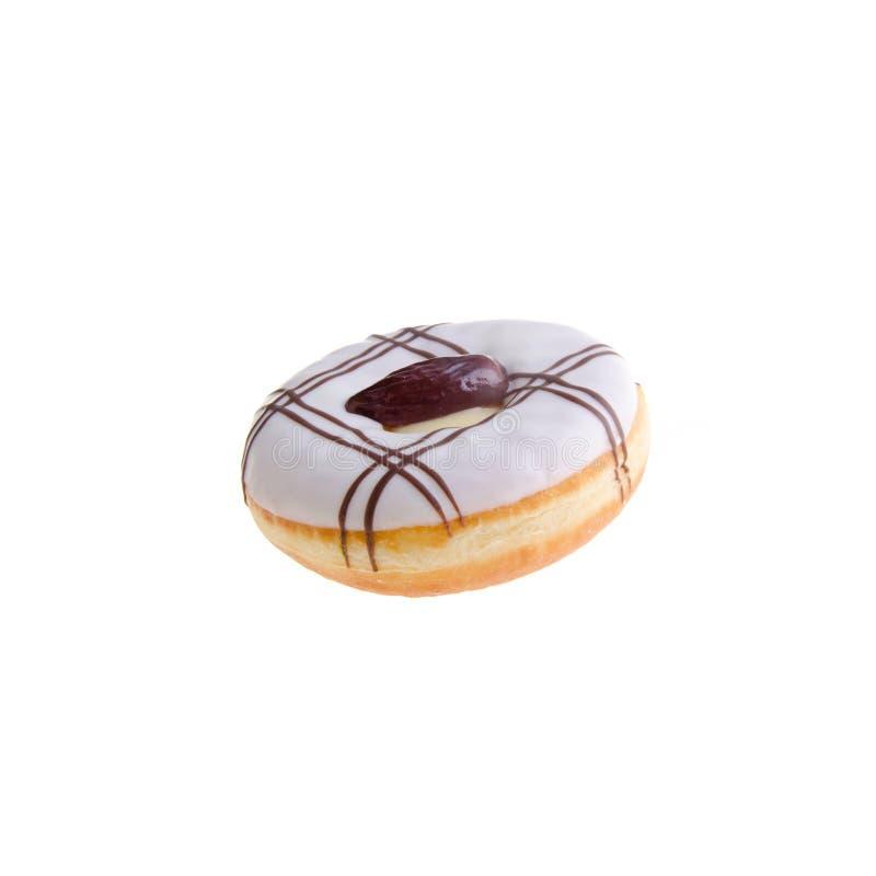 Doughnut die op achtergrond wordt geïsoleerdo royalty-vrije stock foto's