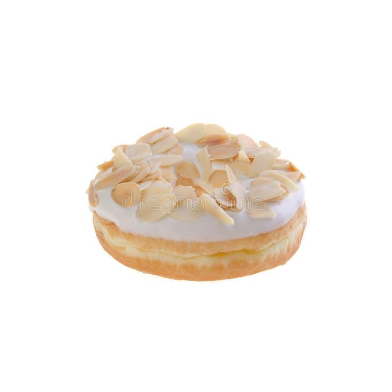 Doughnut die op achtergrond wordt geïsoleerdo stock afbeelding