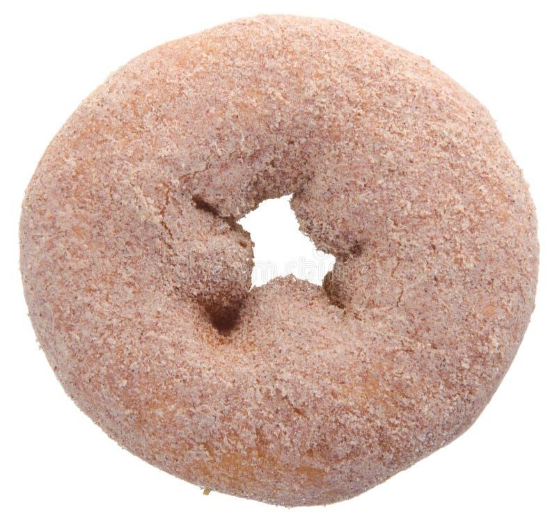 Doughnut die op achtergrond wordt geïsoleerdo royalty-vrije stock afbeeldingen