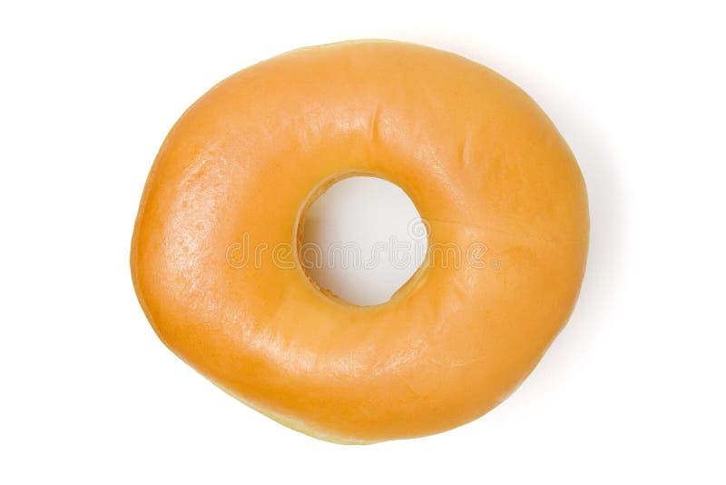 Doughnut die op witte achtergrond wordt geïsoleerd stock foto