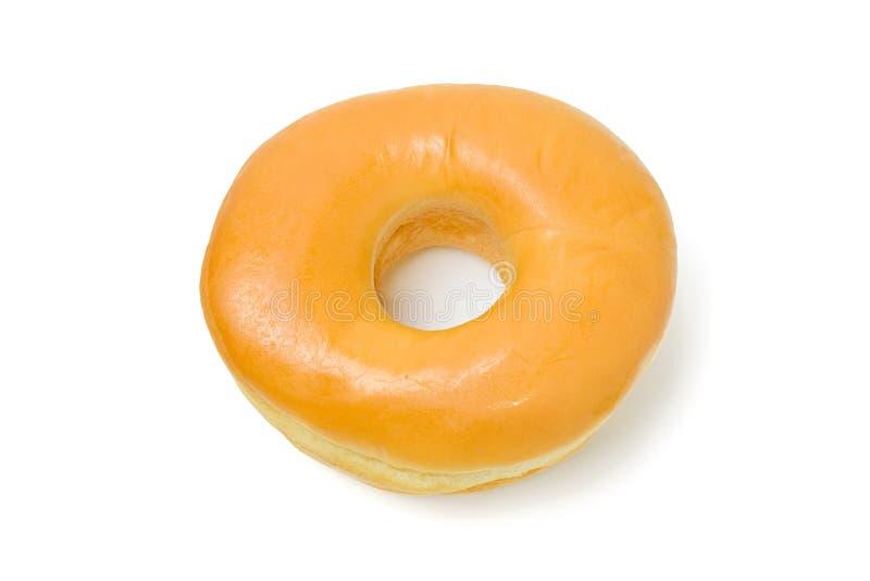 Doughnut die op witte achtergrond wordt geïsoleerd royalty-vrije stock afbeeldingen