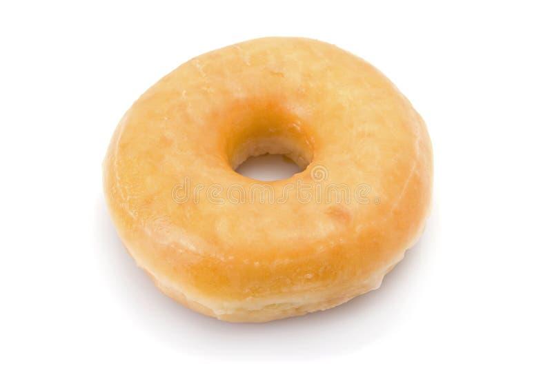 Doughnut of doughnut die op wit wordt geïsoleerdt royalty-vrije stock foto's