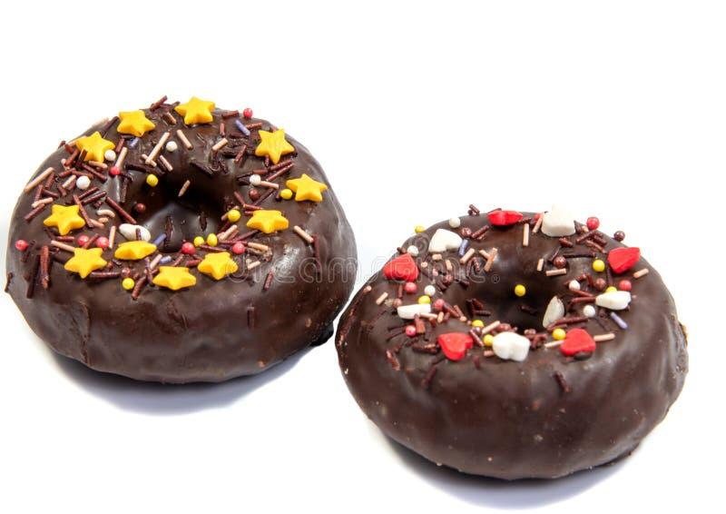 Doughnut of doughnut op wit royalty-vrije stock fotografie