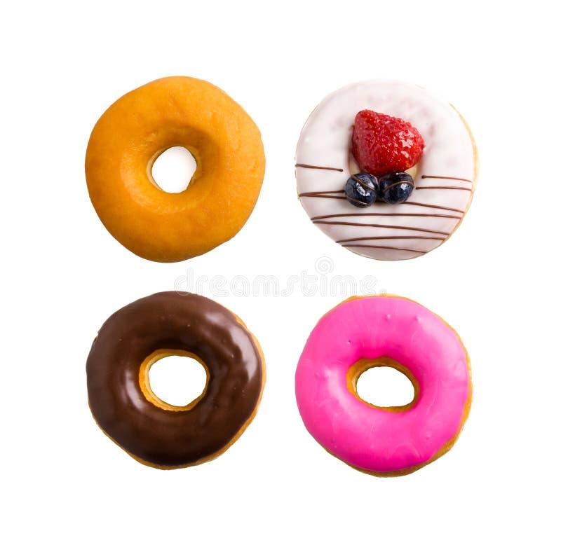 doughnut geïsoleerde inzameling op de achtergrond royalty-vrije stock foto's