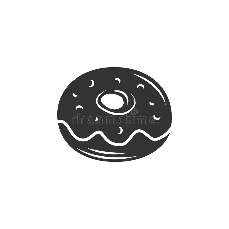 Doughnut icon. Simple element illustration. Doughnut symbol design template. Can be used for web and mobile. On white background royalty free illustration