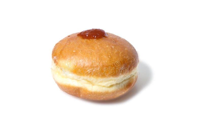 Doughnut met aardbeiroom stock foto