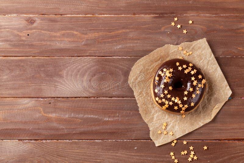 Doughnut met sterdecor royalty-vrije stock fotografie