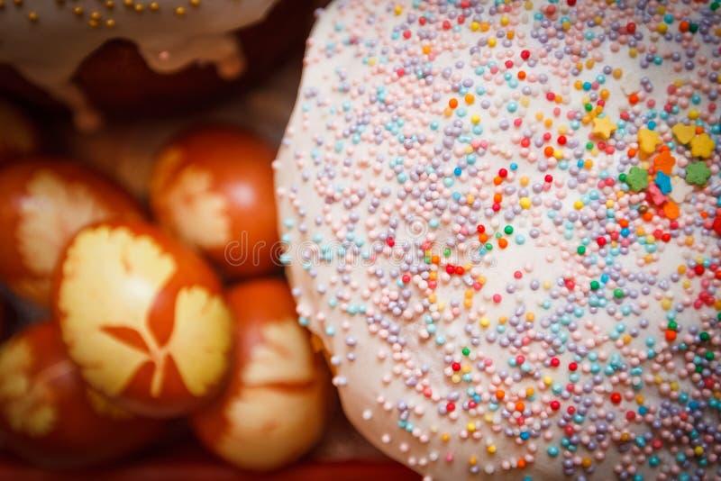 Doughnut Near Orange and White Egg stock images