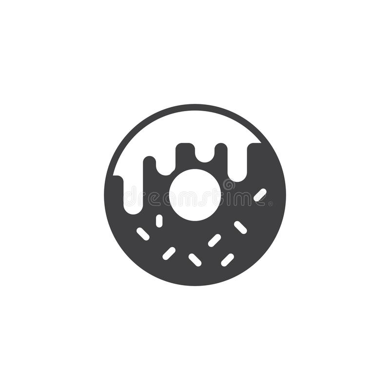 Doughnut vector icon. Filled flat sign for mobile concept and web design. Donut simple solid icon. Symbol, logo illustration. Pixel perfect vector graphics vector illustration