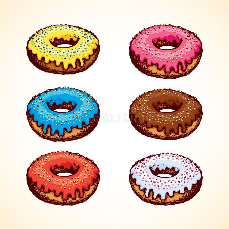 Doughnut Vector tekening royalty-vrije illustratie