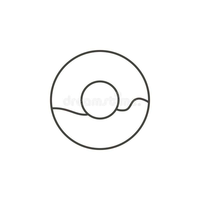 Doughnut, doughnut vectorpictogram Eenvoudige elementenillustratie van Voedselconcept Doughnut, doughnut vectorpictogram De vecto vector illustratie