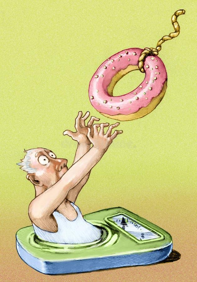 Doughnut-vormig vest stock illustratie