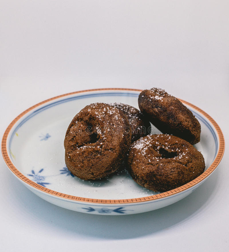 Doughnutchocolade royalty-vrije stock foto's