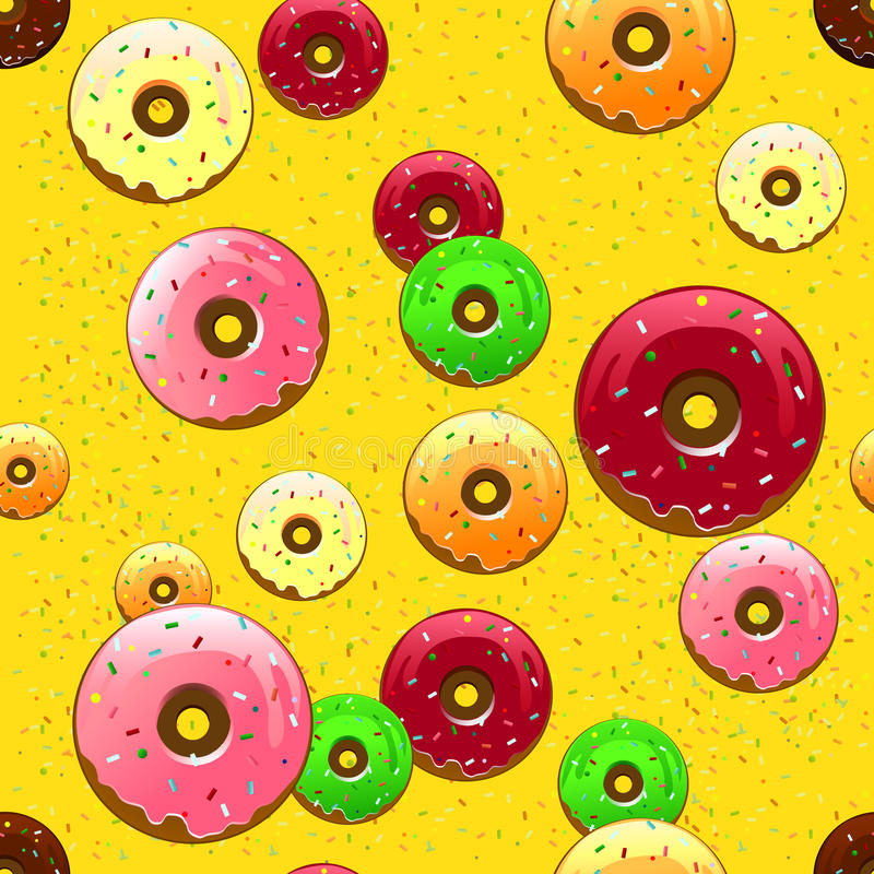Doughnutpatroon stock illustratie