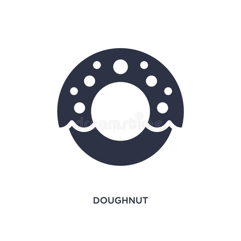 doughnutpictogram op witte achtergrond Eenvoudige elementenillustratie van snel voedselconcept vector illustratie
