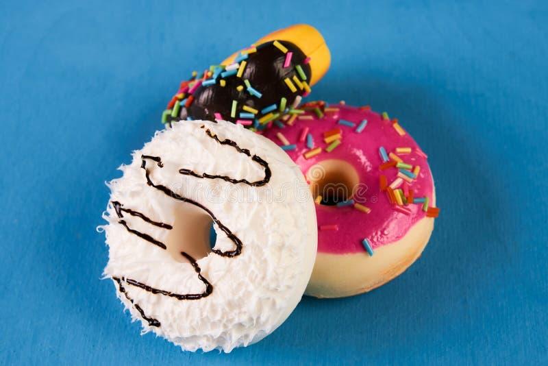 doughnuts γλυκό τρία στοκ εικόνες