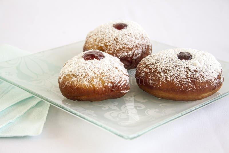 Doughnuts ζελατίνας Chanukah στοκ φωτογραφίες
