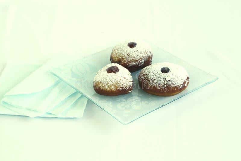 Doughnuts ζελατίνας Hanukah στοκ εικόνα με δικαίωμα ελεύθερης χρήσης