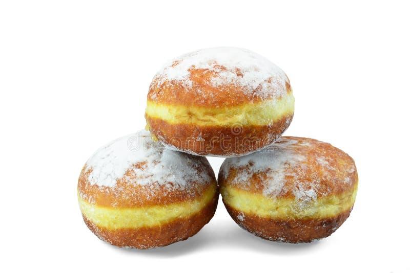 Doughnuts with vanilla custard - Gogosi stock images