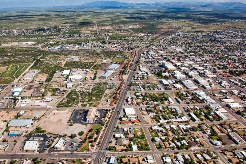 Douglas, Arizona od above fotografia royalty free