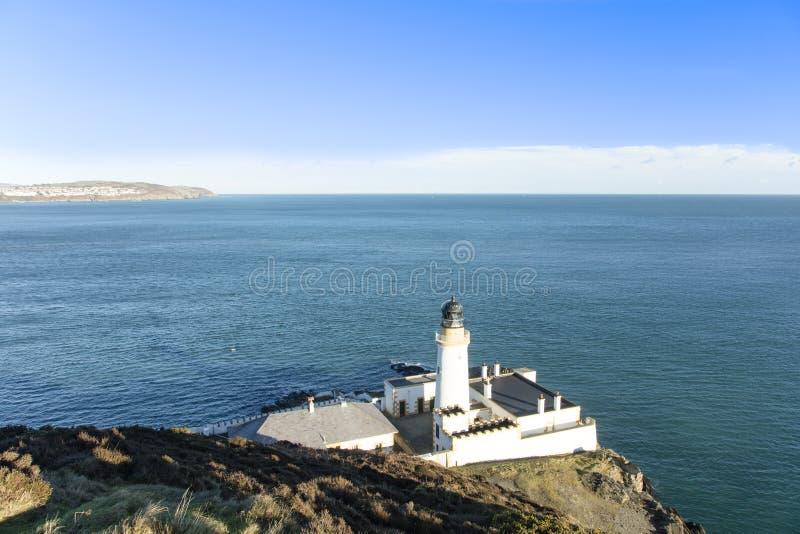 Douglas Bay et île de Man de mer d'Irlande image stock