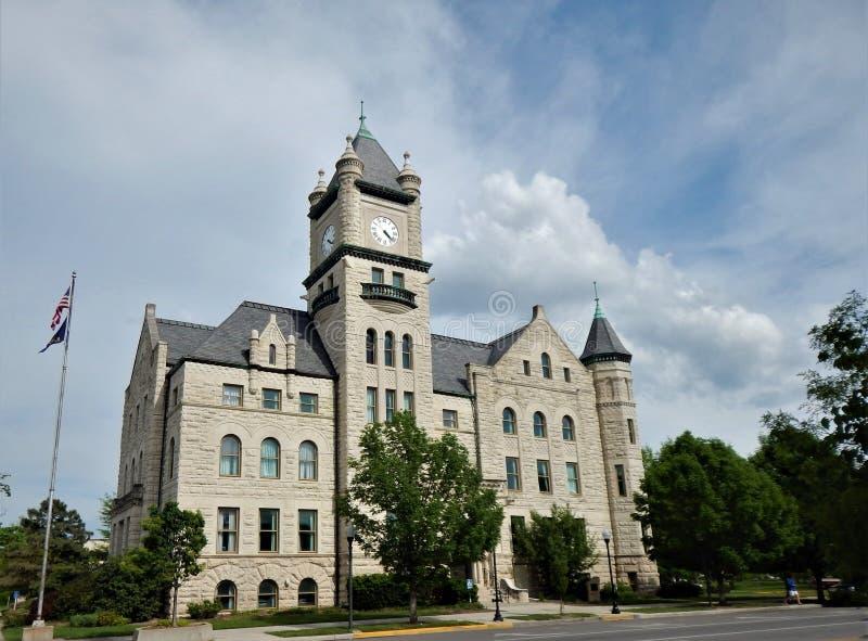 Douglas County Courthouse Lawrence Kansas lizenzfreie stockbilder