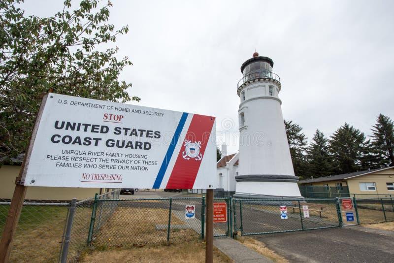 Douglas County OR: Umpqua River Lighthouse royalty free stock photography