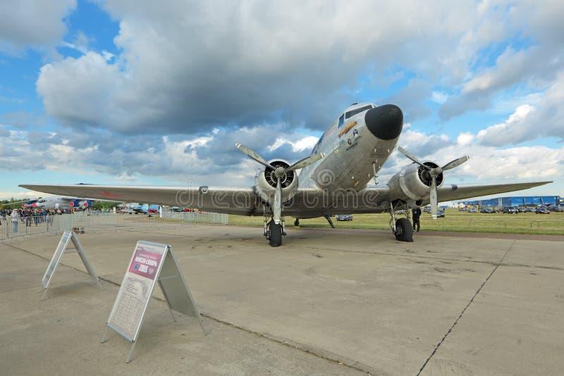 Douglas DC-3/aviones de C-47A Skytrain foto de archivo