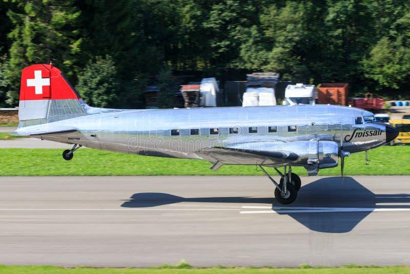 Douglas DC-3C Vintage airliner N431HM fotografia stock libera da diritti
